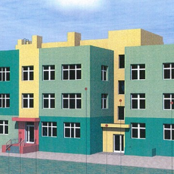 Изображение объекта Детский сад на 350 мест с бассейном в микрорайоне № 2 жилого района Лесная Поляна (строительный №5)