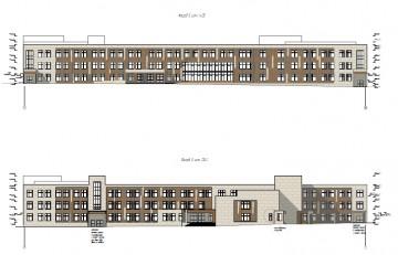 Изображение объекта Здание общеобразовательной школы на 1100 учащихся в г. Белово