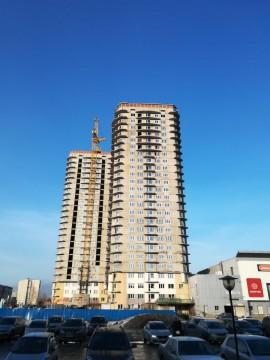 Изображение объекта Комплекс 2-х высотных 25-этажных многоквартирных жилых домов со встроенно-пристроенным торгово-деловым блоком в квартале 47А Центрального района г. Новокузнецка