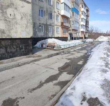 Изображение объекта Дворовая территория дома №6 по ул. Чапаева в г. Гурьевске (благоустройство)