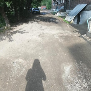 Изображение объекта Дворовая территория по адресу: ул. Суворова, 270, г. Ленинск-Кузнецкий