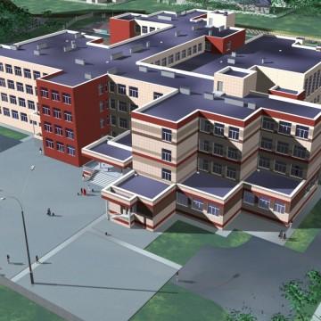 Изображение объекта  Общеобразовательная школа на 1050 учащихся по адресу: г. Кемерово, Центральный район, микрорайон 15А