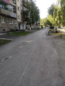 Изображение объекта Дворовая территория дома № 18 по ул. Партизанская в г. Гурьевске (благоустройство)